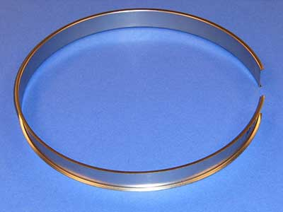 Roll formed steel rings