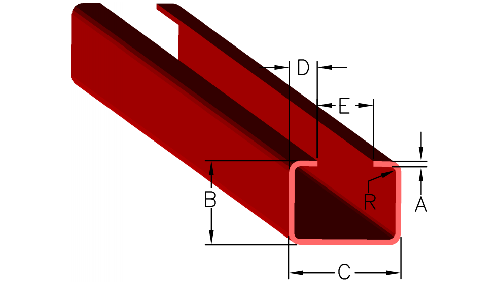 C Channel Dimensions
