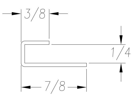 Roll Formed J Channel