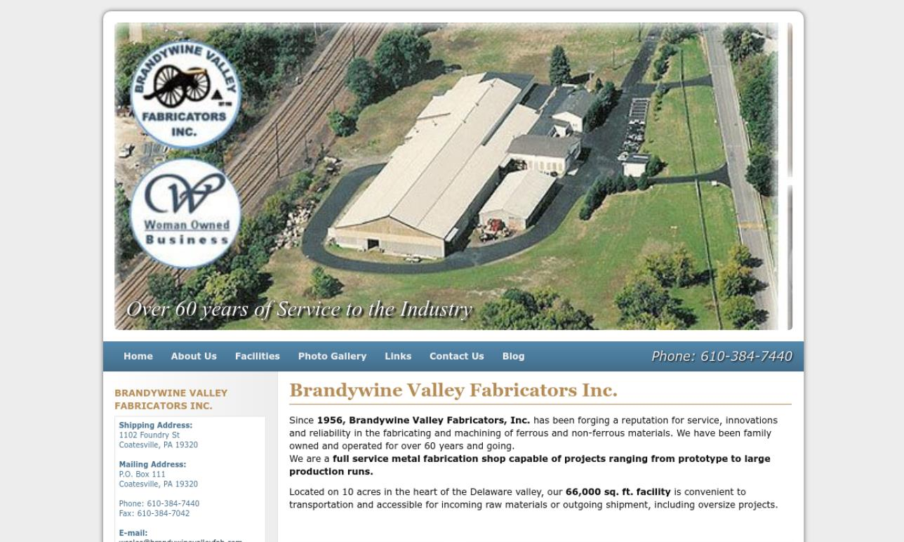 Brandywine Valley Fabricators, Inc.