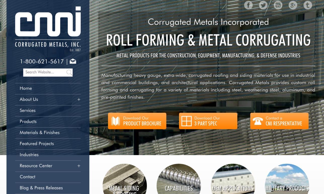 Corrugated Metals, Inc.