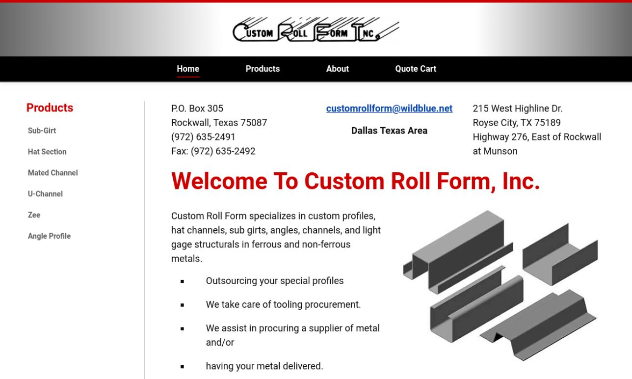 Custom Roll Form, Inc.