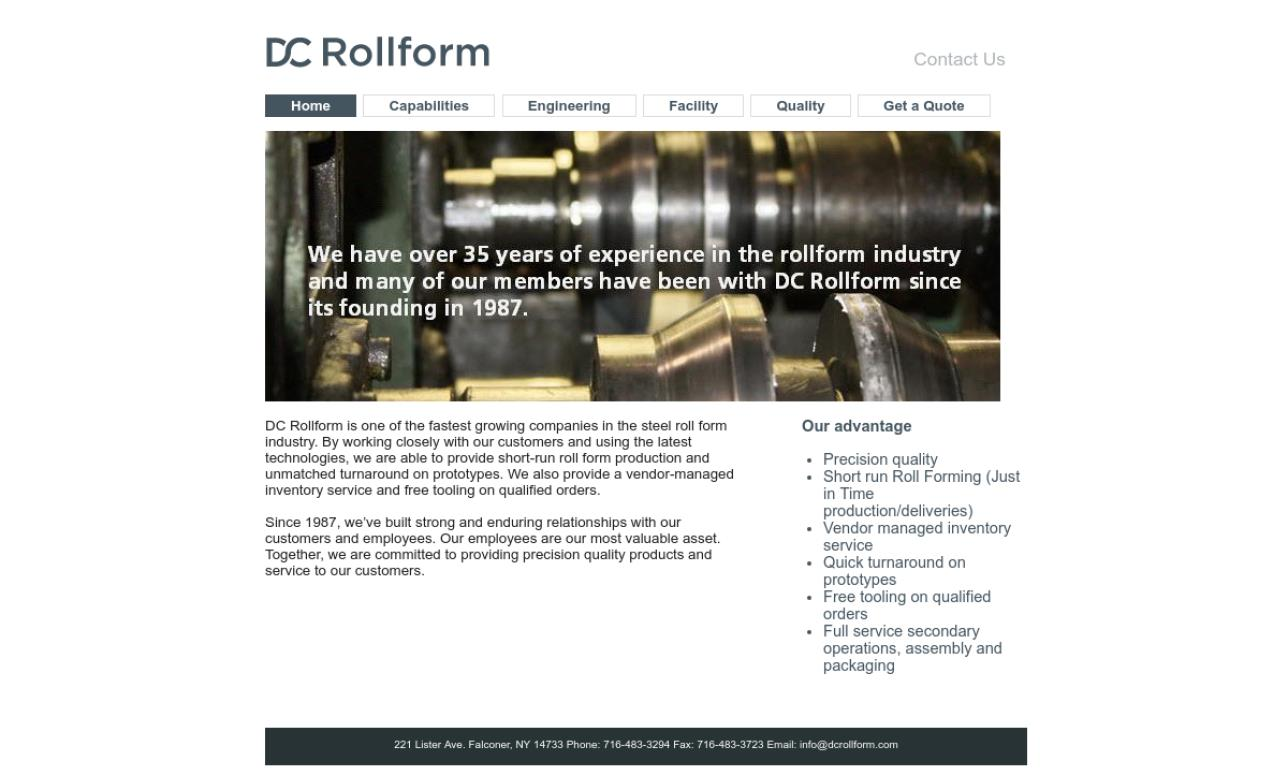More Roll Forming Manufacturer Listings